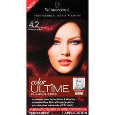Schwarzkopf Ultime Hair Color Cream, 4.2 Mahogany Red, 2.03 Ounce -- Click on the image for additional details.