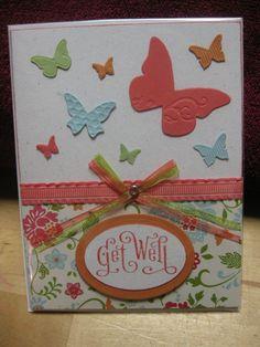 Stampin Up - Butterflies Get Well Card