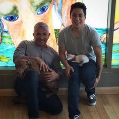 """""""Taking some photos with Andre for the Cesar Millan Foundation. #NationalDogDay #Adopt"""" Photo taken by @cesarsway on Instagram, pinned via the InstaPin iOS App! http://www.instapinapp.com (08/26/2015)"""