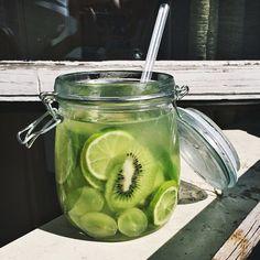 green kiwi lime drink
