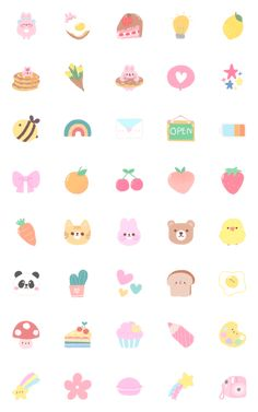 Cute Small Drawings, Mini Drawings, Kawaii Drawings, Kawaii Stickers, Cute Stickers, Cute Doodles, Aesthetic Stickers, Cute Cartoon Wallpapers, Kawaii Wallpaper