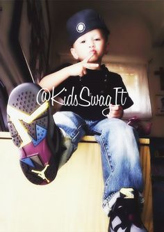 Cute kid with swag!