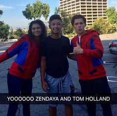 I love how they're both wearing the same Spider-Man jacket