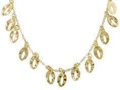 The city life has never looked so bright! - Splendido Oro(Tm) 14k Yellow Gold Foglia D'oro 20 Inch Plus 4 Inch Extender Necklace