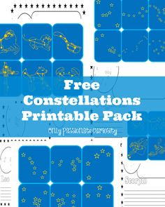 Learning about the Constellations FREE Printable Pack - Homeschool Giveaways Space Activities, Science Activities, Science Topics, Teaching Science, Earth Science, Free Printables, Ideas, Classroom, Homeschooling