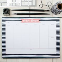 Kickstart each Monday with this A4 weekly planner desk pad.