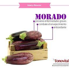 Continuando con los COLORES de los ALIMENTOS, hoy nos enfocaremos en los vegetales de COLOR MORADO, los mismos contienen pigmentos llamados antocianinas, que son POTENTES ANTIOXIDANTES que protegen a las células del daño oxidativo. Algunos alimentos de éste color son: Arándanos, berenjenas, cerezas, ciruelas, grosellas negras, moras, papa morada, uvas y acai. ¡Pruébalos! Con TONOVITAL inspira tu vida, porque...¡Cuidarse es empezar a vivir mejor!  #Tonovital #SaludyBienestarBagó