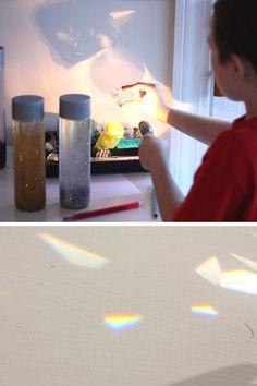 Explore light and make rainbows