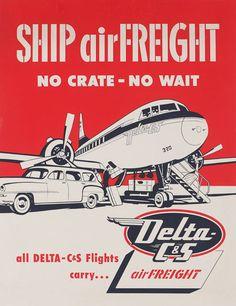Vintage Airline Posters delta1