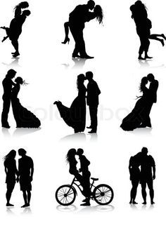 "Find ""couple silhouette"" stock images in HD and millions of other royalty-free stock photos, illustrations and vectors in the Shutterstock collection. Thousands of new, high-quality pictures added every day. Couple Silhouette, Silhouette Vector, Silhouette Painting, Couple Photography, Photography Poses, M Image, Crayon Art, Romantic Couples, Romantic Pics"
