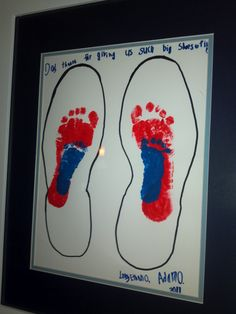 Shoes of Life.. Father's Day idea.  I like this idea of using his shoe over getting dad's footprint if u want it to be a surprise.