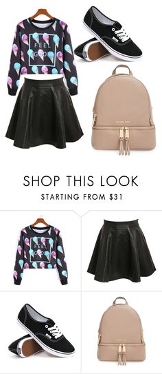 """""""Elena's outfit"""" by i-live-in-the-valley-49 ❤ liked on Polyvore featuring Pilot, Vans and MICHAEL Michael Kors"""