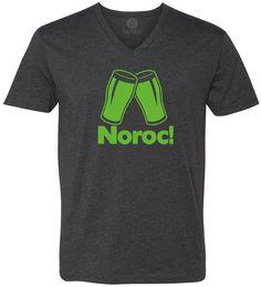 Romanian Cheers (Green) Short-Sleeve V-Neck T-Shirt