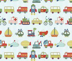 on the go fabric by littlerhodydesign on Spoonflower - custom fabric
