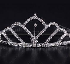 $3.97 Shiny Rhinestone Fan Shape Girl Wedding Prom Tiara Crown Headband #Jewelrygift #eozy