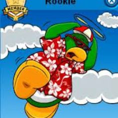 Rookie's Player Card on Club Penguin