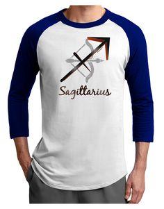 TooLoud Sagittarius Symbol Adult Raglan Shirt