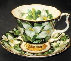 Wow. Love this one with Trilliums. Royal Albert