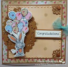 Clairebears x - Bebunni and balloons stamps and papers from Bebunni CD1