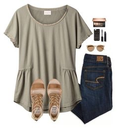 """If you stumble make it part of the dance."" by oh-so-rachel ❤ liked on Polyvore featuring American Eagle Outfitters, EAST, Yves Saint Laurent, J.Crew, Chanel and Billabong"