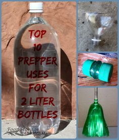 Got empty soda bottles? Here's 10+ creative, practical, preparedness uses for 2 liter bottles. Number 10 is genius!