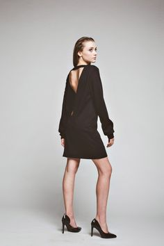 sukienki-Sukienka Only Love Dress oversized  casual black tunic