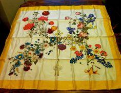 Vintage Gucci Floral 100% Silk Scarf