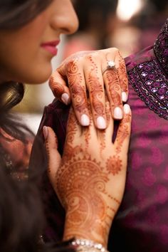 Perfect Henna and Engagement ring photo. Schaumburg Illinois Indian Wedding by Le Cape Weddings » KnotsVilla