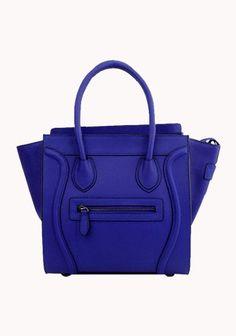 Vanessa Tote In Fluorescent Leather Blue