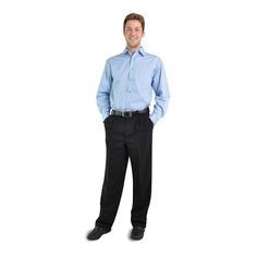 Classic Trousers BRAND: OAKHURST Has durable polyester fabric and back pocket Corporate Outfits, Trousers, Pocket, Classic, Clothing, Fabric, Model, Fashion, Pants