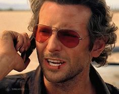 a9618b8bb9309 Actor Bradley Cooper seems to be wearing Ray-Ban 3025 (also known as the Ray -Ban Aviator) sunglasses in the 2009 comedy The Hangover.