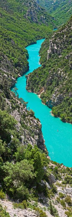 The Gorges Du Verdon, in south-eastern France, is a river canyon that is often considered to be one of Europe's most beautiful. It is about 25 kilometres long and up to 700 metres deep.