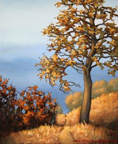 Overlooking the autumn, 20 x 24 in acrylic painting