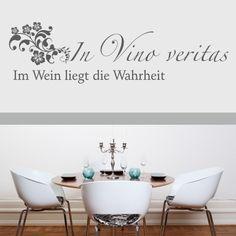 In Vino Veritas Wandtattoo von chef1274 via dawanda.com