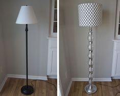 They made this out of duct tape and plastic bottles...I love the new lamp!