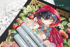 Copic Drawings, Anime Drawings Sketches, Cute Drawings, Copic Marker Art, Copic Art, Aesthetic Art, Aesthetic Anime, Copic Kunst, Manga Art