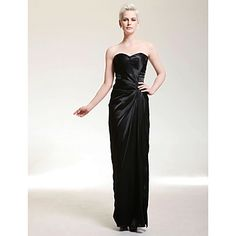 Charmeuse Sheath/ Column Sweetheart Floor-length Evening Dress inspired by Halle Berry – USD $ 149.99