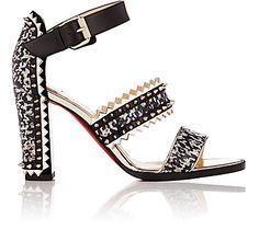 Christian Louboutin Montezumina Spike Ankle-Strap Sandals - Sandals - 504841097
