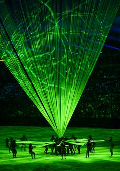 #RIO2016 Performers during the opening ceremony of the 2016 Rio Summer Olympic Games at the Maracanã Stadium in Rio de Janeiro Brazil