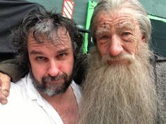 Yesterday we told you Sir Ian McKellen had finally shot his last scene as Gandalf (his first was in 1999). Here's a terrible tear-inducing photo of him and Peter Jackson marking the ocassion.