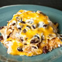 Chicken & Black Bean Enchilada Casserole