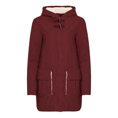 Cloudhill Sherpa Lined Parka Coat Henna