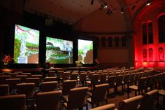 """Lucion - """"TD Awards"""", video projection on multiple screens http://www.lucionmedia.ca"""