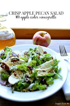 Crisp Apple Pecan Salad with Apple Cider Vinaigrette