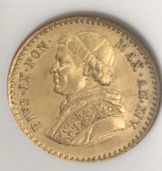 Currently at the #Catawiki auctions: Papal States - 2.5 Scudi 1859 Rome Pius IX in slab - gold