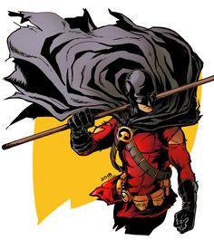 "polmcarts: ""Suddenly, I had the urge to draw Red Robin. Batman Comic Books, Comic Movies, Marvel Dc Comics, Comic Books Art, Comic Art, Im Batman, Batman Robin, Batgirl Cassandra Cain, Timothy Drake"