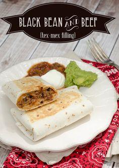 Black Bean and Beef Burrito Filling