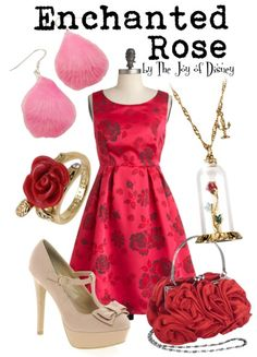 Outfit inspired by the Enchanted Rose from Beauty and the Beast!