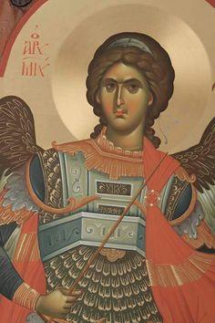 Byzantine Icons, Byzantine Art, Religious Icons, Religious Art, 7 Archangels, Archangel Raphael, Angel Warrior, Christ The King, Angels Among Us