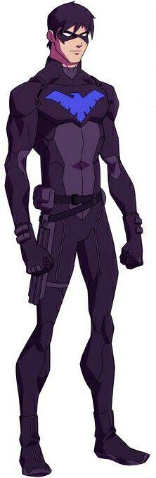 Nightwing en justicia joven.